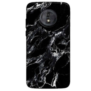 Motorola Moto G6 Play Without Cut Mobile Covers Cases Pure Black Marble Texture - Lowest Price - Paybydaddy.com