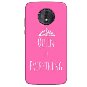 Motorola Moto G6 Play Without Cut Mobile Covers Cases Queen Of Everything Pink White - Lowest Price - Paybydaddy.com