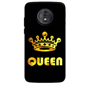 Motorola Moto G6 Play Without Cut Mobile Covers Cases Queen With Crown in gold - Lowest Price - Paybydaddy.com