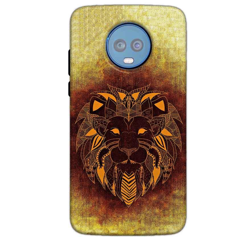 Motorola Moto G6 Plus Mobile Covers Cases Lion face art - Lowest Price - Paybydaddy.com