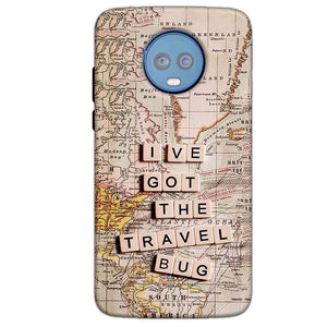 Motorola Moto G6 Plus Mobile Covers Cases Live Travel Bug - Lowest Price - Paybydaddy.com