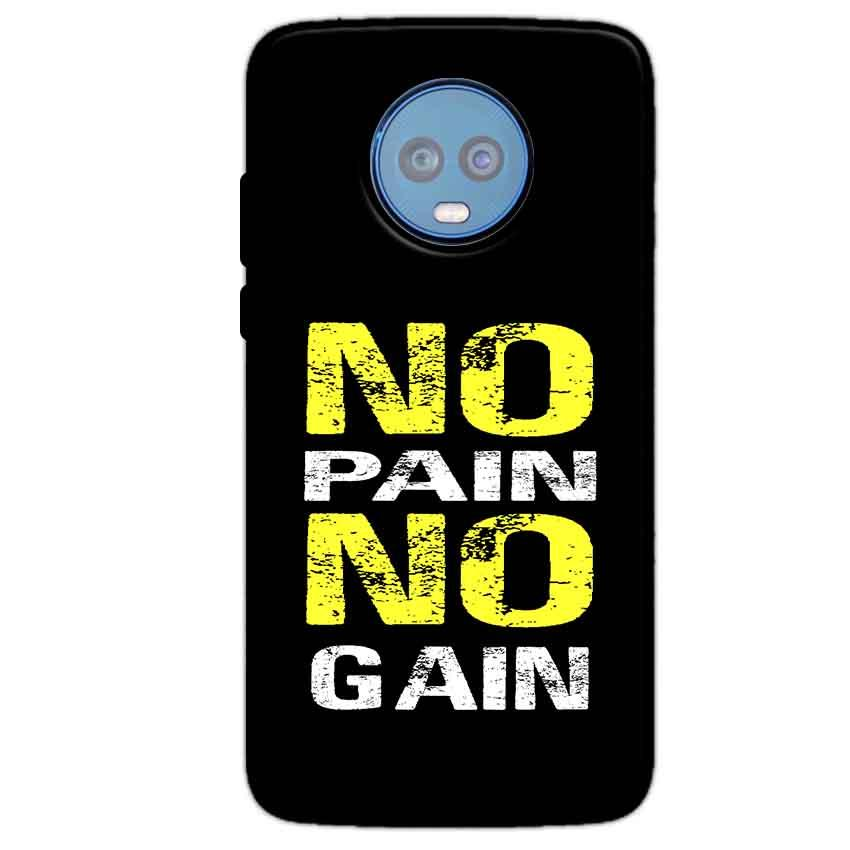 Motorola Moto G6 Plus Mobile Covers Cases No Pain No Gain Yellow Black - Lowest Price - Paybydaddy.com