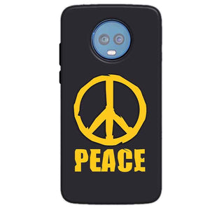 Motorola Moto G6 Plus Mobile Covers Cases Peace Blue Yellow - Lowest Price - Paybydaddy.com