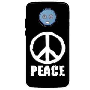 Motorola Moto G6 Plus Mobile Covers Cases Peace Sign In White - Lowest Price - Paybydaddy.com