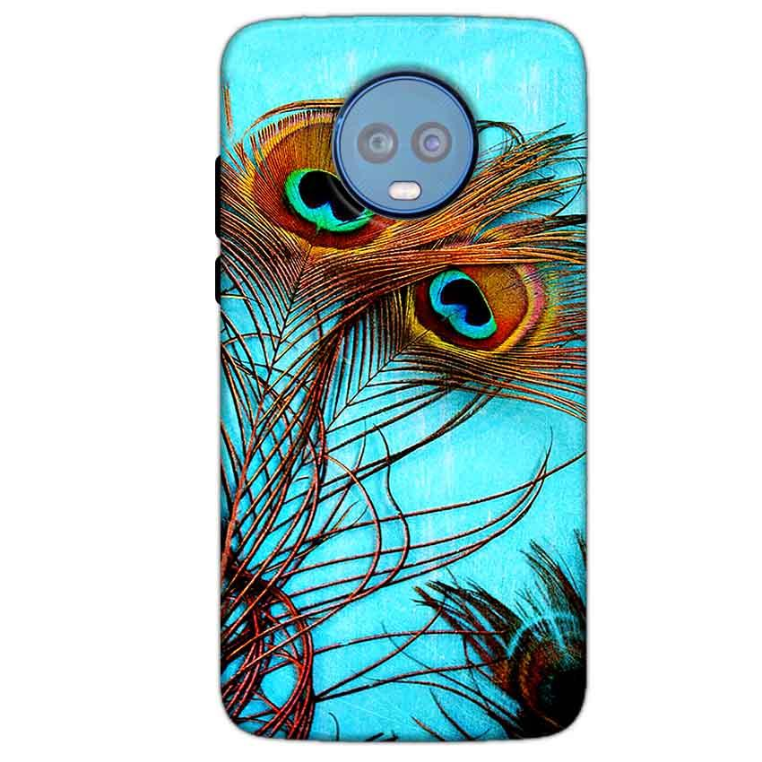 Motorola Moto G6 Plus Mobile Covers Cases Peacock blue wings - Lowest Price - Paybydaddy.com