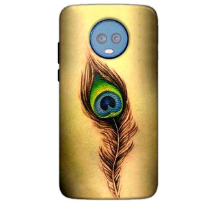 Motorola Moto G6 Plus Mobile Covers Cases Peacock coloured art - Lowest Price - Paybydaddy.com