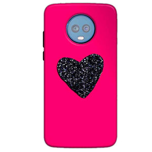 Motorola Moto G6 Plus Mobile Covers Cases Pink Glitter Heart - Lowest Price - Paybydaddy.com
