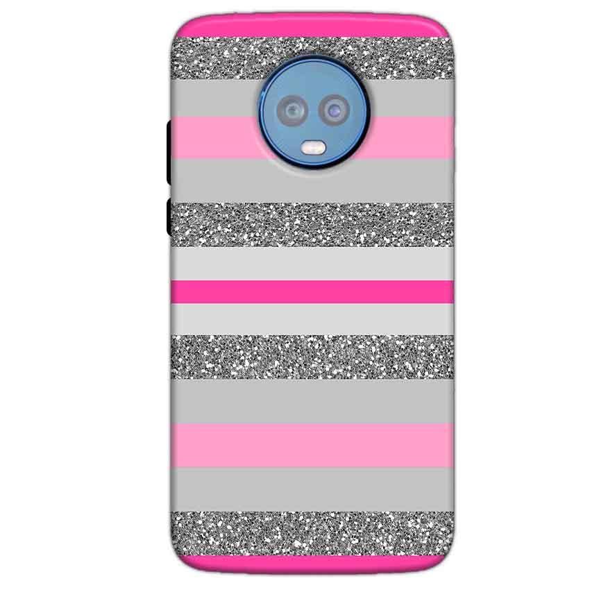 Motorola Moto G6 Plus Mobile Covers Cases Pink colour pattern - Lowest Price - Paybydaddy.com