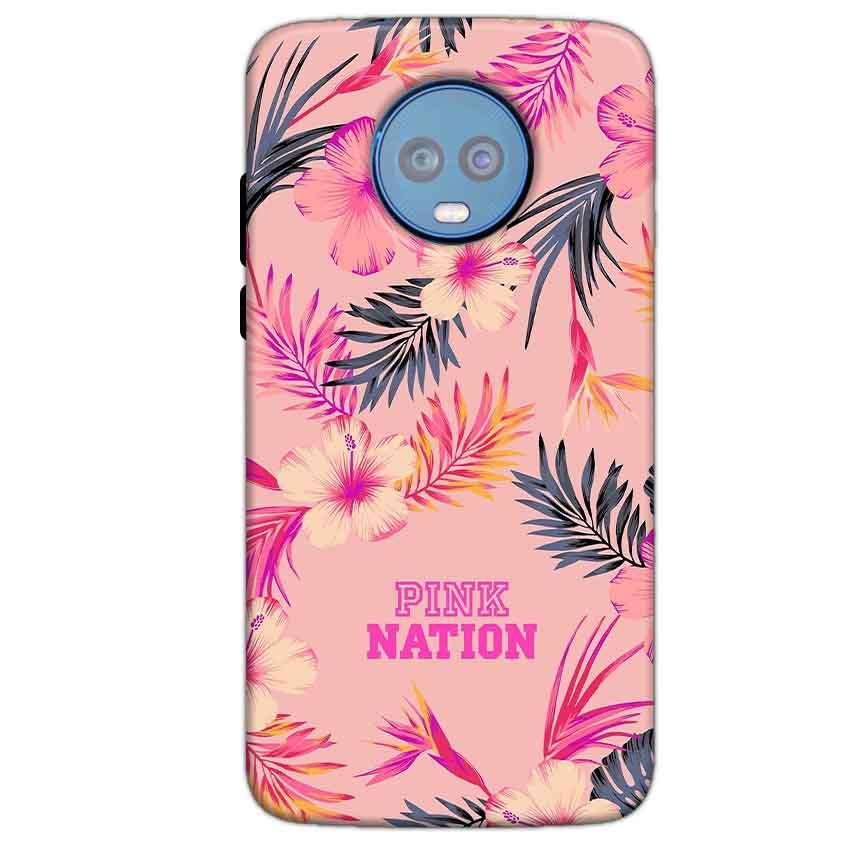 Motorola Moto G6 Plus Mobile Covers Cases Pink nation - Lowest Price - Paybydaddy.com