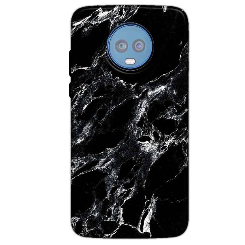 Motorola Moto G6 Plus Mobile Covers Cases Pure Black Marble Texture - Lowest Price - Paybydaddy.com