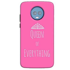 Motorola Moto G6 Plus Mobile Covers Cases Queen Of Everything Pink White - Lowest Price - Paybydaddy.com