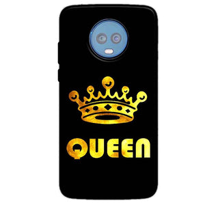 Motorola Moto G6 Plus Mobile Covers Cases Queen With Crown in gold - Lowest Price - Paybydaddy.com