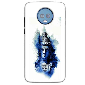 Motorola Moto G6 Plus Mobile Covers Cases Shiva Blue White - Lowest Price - Paybydaddy.com