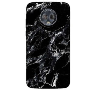Motorola Moto G6 Mobile Covers Cases Pure Black Marble Texture - Lowest Price - Paybydaddy.com