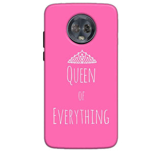 Motorola Moto G6 Mobile Covers Cases Queen Of Everything Pink White - Lowest Price - Paybydaddy.com