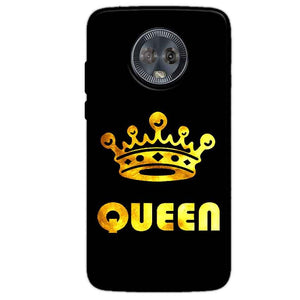 Motorola Moto G6 Mobile Covers Cases Queen With Crown in gold - Lowest Price - Paybydaddy.com