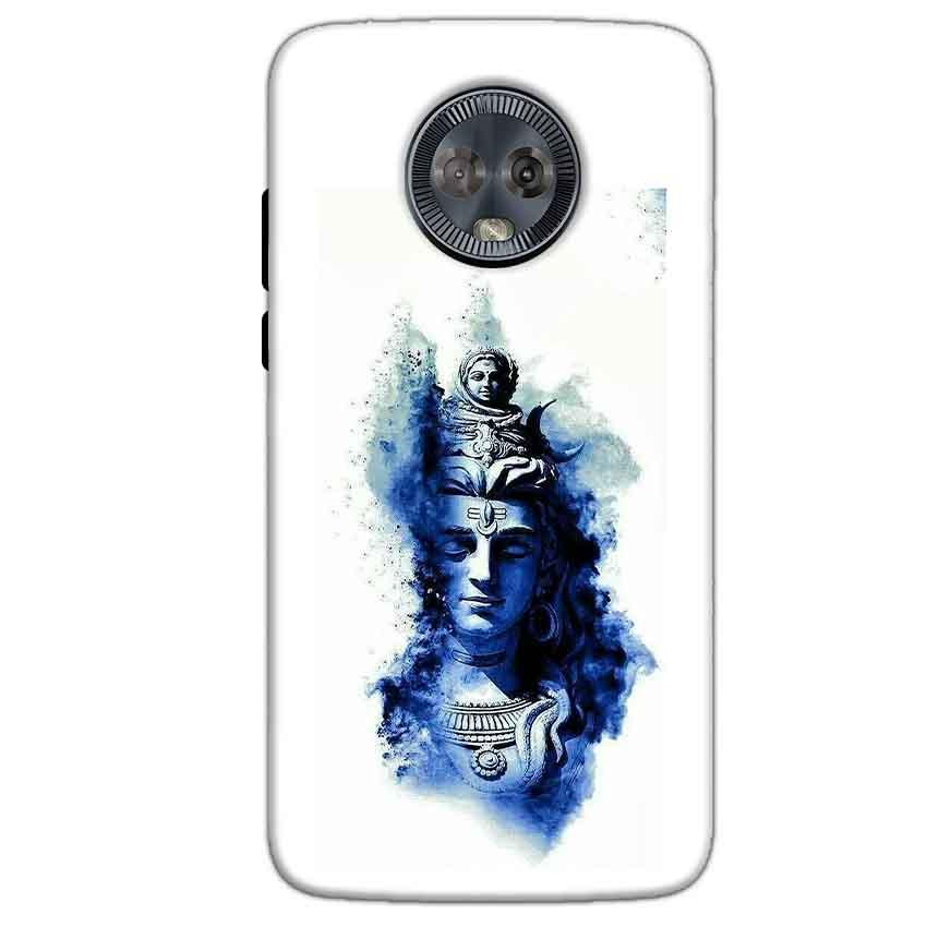 Motorola Moto G6 Mobile Covers Cases Shiva Blue White - Lowest Price - Paybydaddy.com