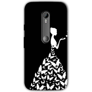 Motorola Moto G 3rd gen Mobile Covers Cases Butterfly black girl - Lowest Price - Paybydaddy.com