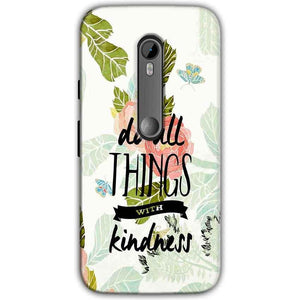 Motorola Moto G 3rd gen Mobile Covers Cases Do all things with kindness - Lowest Price - Paybydaddy.com
