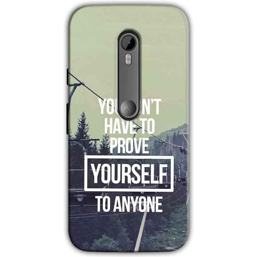 Motorola Moto G 3rd gen Mobile Covers Cases Donot Prove yourself - Lowest Price - Paybydaddy.com