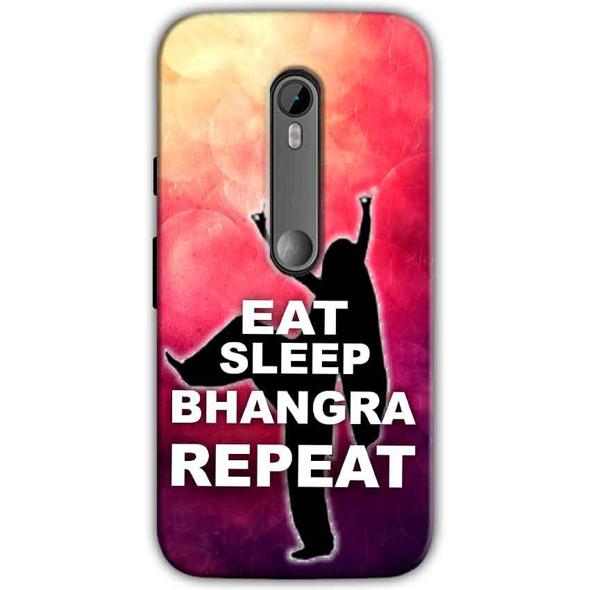 Motorola Moto G 3rd gen Mobile Covers Cases EAT SLEEP BHANGRA REPEAT - Lowest Price - Paybydaddy.com