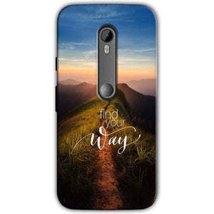 Motorola Moto G 3rd gen Mobile Covers Cases Find Your Way Quote - Lowest Price - Paybydaddy.com
