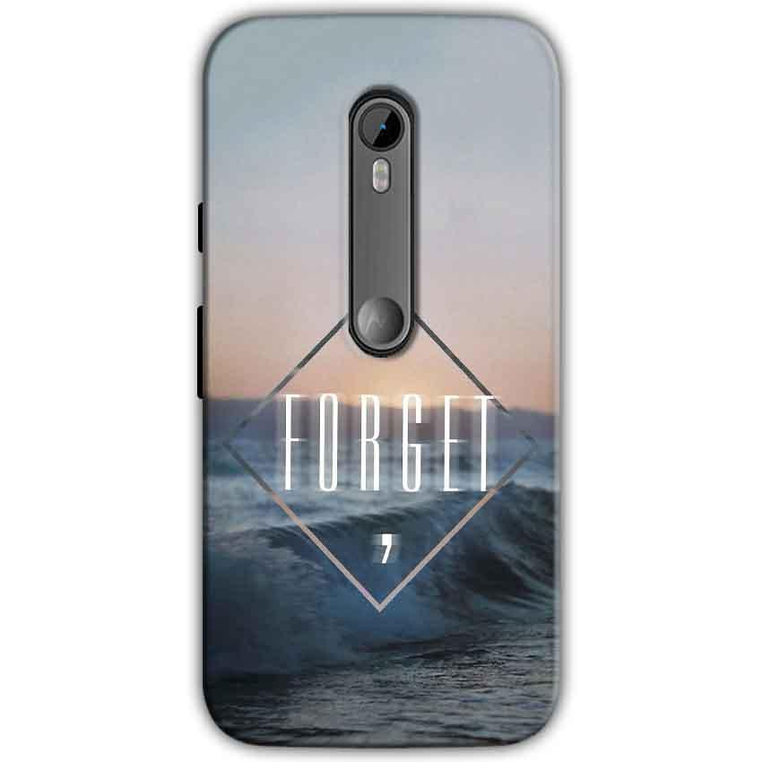 Motorola Moto G 3rd gen Mobile Covers Cases Forget Quote Something Different - Lowest Price - Paybydaddy.com