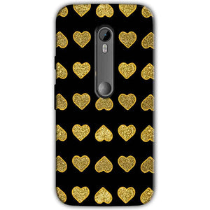 Motorola Moto G 3rd gen Golden Little Mobile Covers Cases Hearts- Lowest Price - Paybydaddy.com
