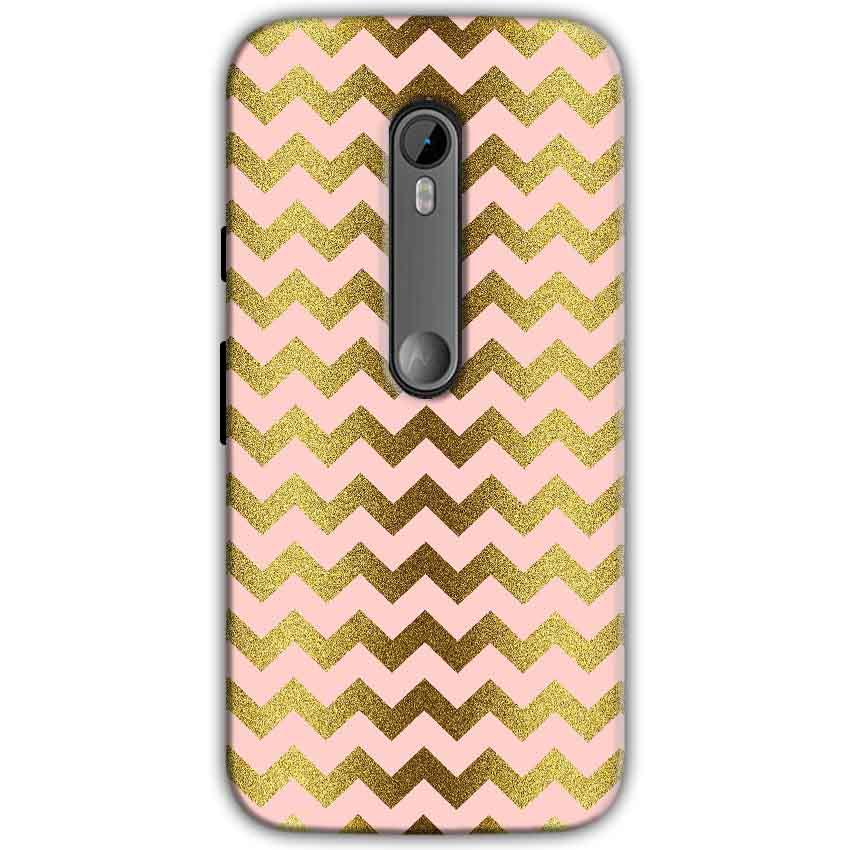 Motorola Moto G 3rd gen Mobile Covers Cases Golden Zig Zag Pattern - Lowest Price - Paybydaddy.com