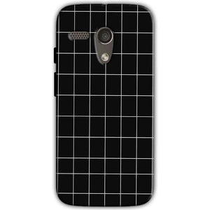 Motorola Moto G 4G Mobile Covers Cases Black with White Checks - Lowest Price - Paybydaddy.com