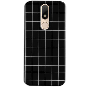 Motorola Moto M Mobile Covers Cases Black with White Checks - Lowest Price - Paybydaddy.com