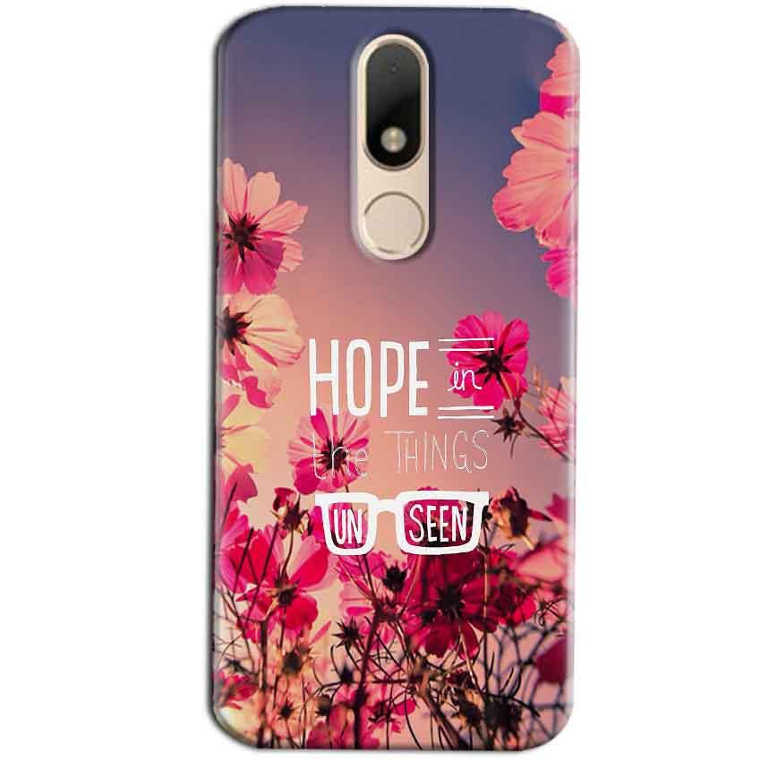 Motorola Moto M Mobile Covers Cases Hope in the Things Unseen- Lowest Price - Paybydaddy.com