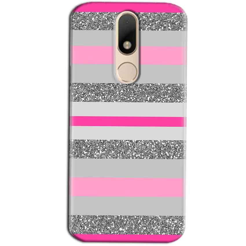 Motorola Moto M Mobile Covers Cases Pink colour pattern - Lowest Price - Paybydaddy.com