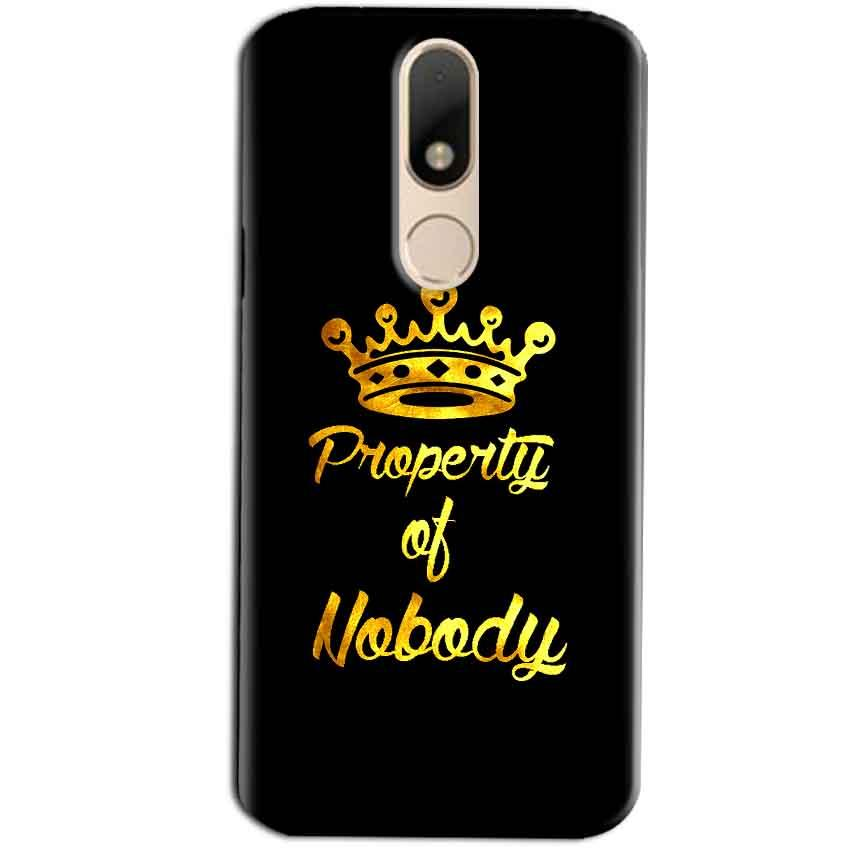 Motorola Moto M Mobile Covers Cases Property of nobody with Crown - Lowest Price - Paybydaddy.com