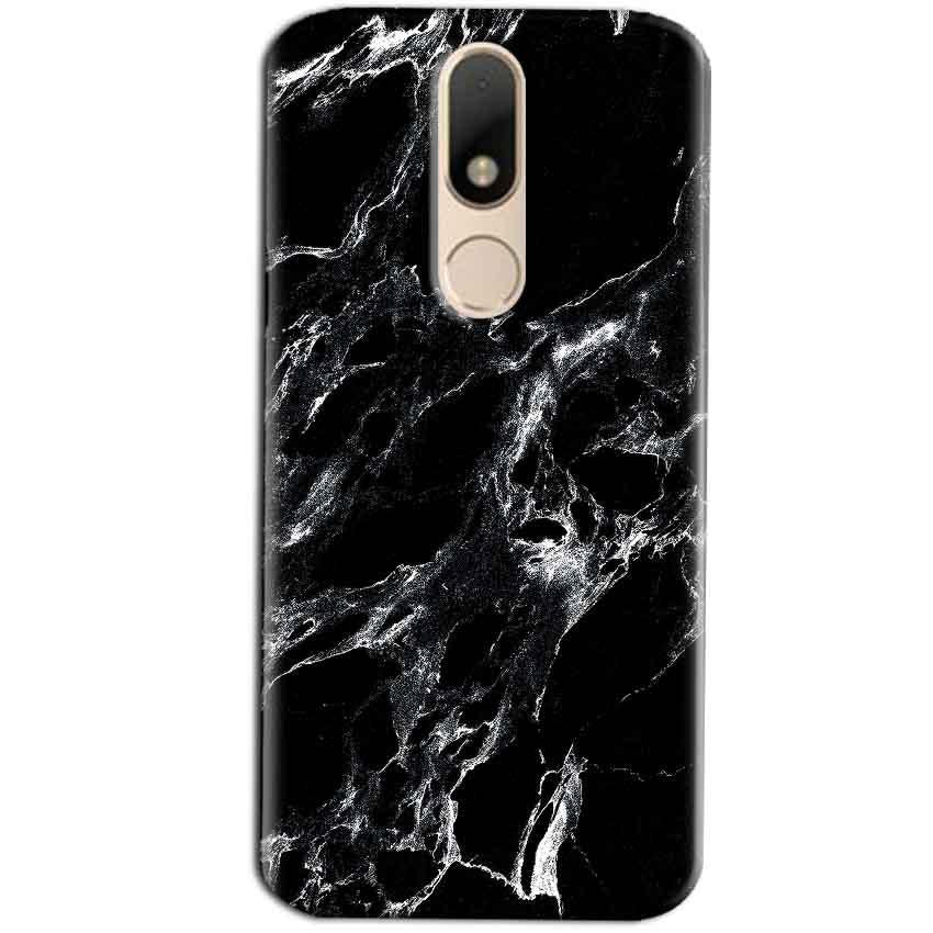 Motorola Moto M Mobile Covers Cases Pure Black Marble Texture - Lowest Price - Paybydaddy.com