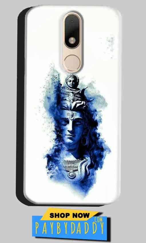 Motorola Moto M Mobile Covers Cases Shiva Blue White - Lowest Price - Paybydaddy.com