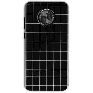 Motorola Moto X4 Mobile Covers Cases Black with White Checks - Lowest Price - Paybydaddy.com