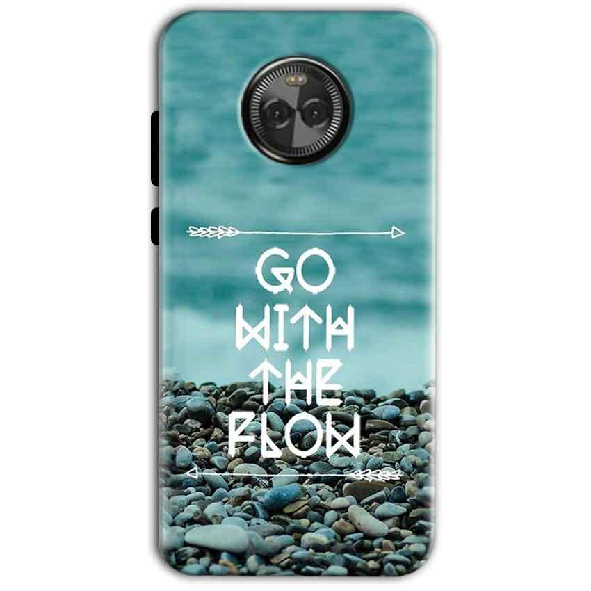 Motorola Moto X4 Mobile Covers Cases Go With the flow- Lowest Price - Paybydaddy.com