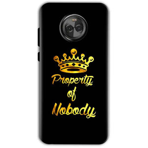 Motorola Moto X4 Mobile Covers Cases Property of nobody with Crown - Lowest Price - Paybydaddy.com
