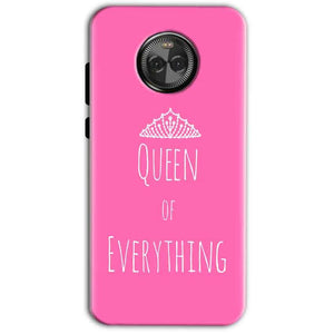Motorola Moto X4 Mobile Covers Cases Queen Of Everything Pink White - Lowest Price - Paybydaddy.com