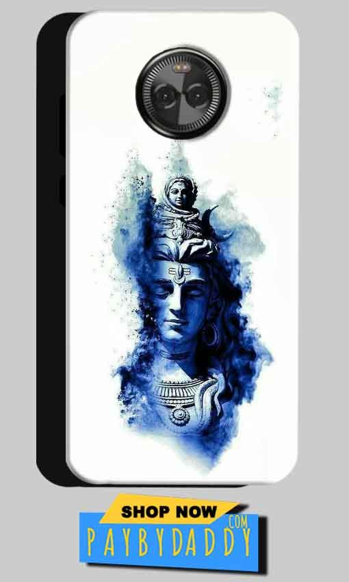Motorola Moto X4 Mobile Covers Cases Shiva Blue White - Lowest Price - Paybydaddy.com