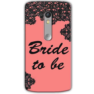 Motorola Moto X Play Mobile Covers Cases Mobile Covers Cases bride to be with ring Black Pink - Lowest Price - Paybydaddy.com