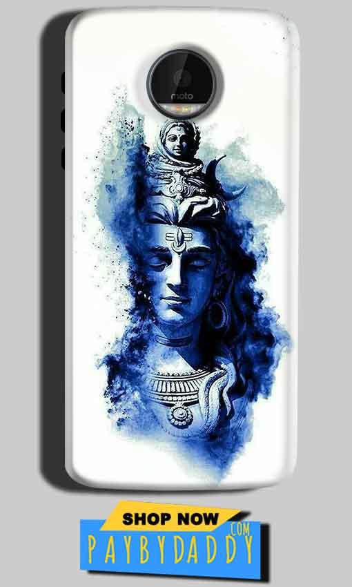 Motorola Moto Z Play Mobile Covers Cases Shiva Blue White - Lowest Price - Paybydaddy.com