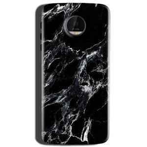 Motorola Moto Z Play Mobile Covers Cases Pure Black Marble Texture - Lowest Price - Paybydaddy.com