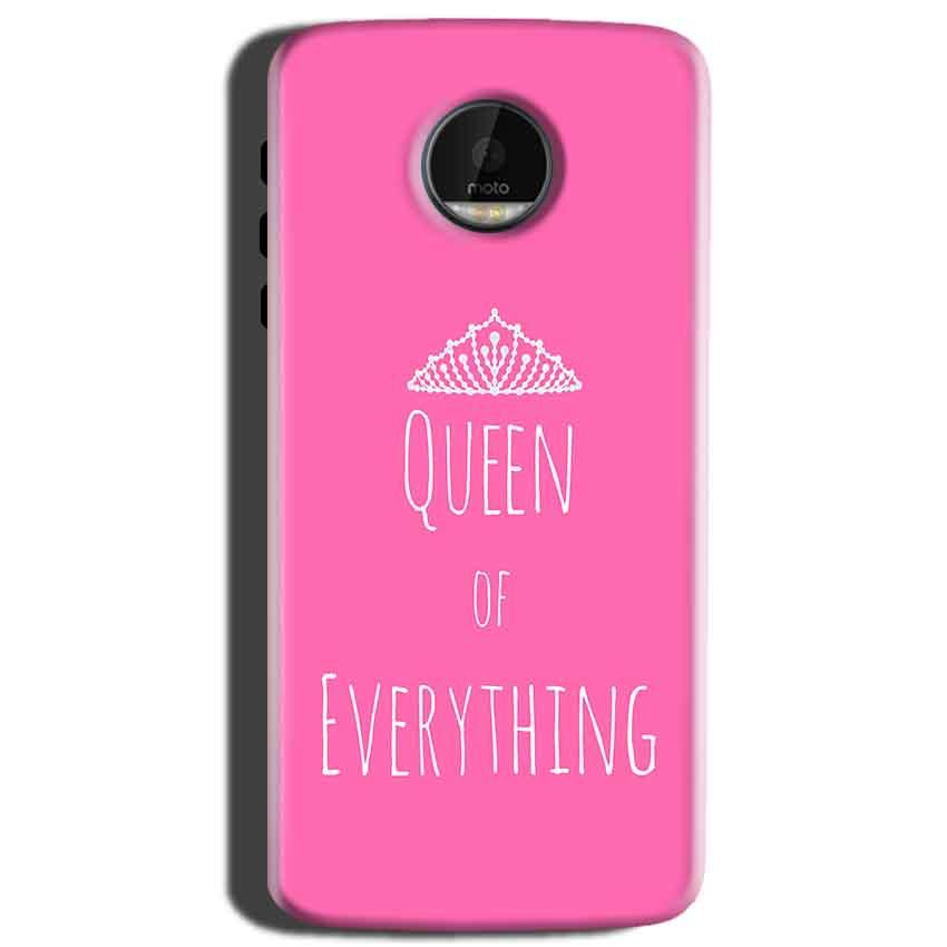 Motorola Moto Z Play Mobile Covers Cases Queen Of Everything Pink White - Lowest Price - Paybydaddy.com