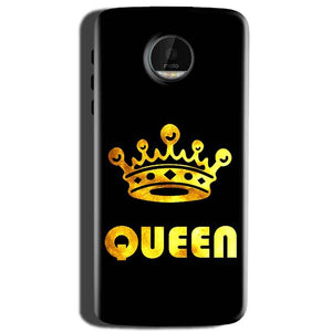 Motorola Moto Z Play Mobile Covers Cases Queen With Crown in gold - Lowest Price - Paybydaddy.com