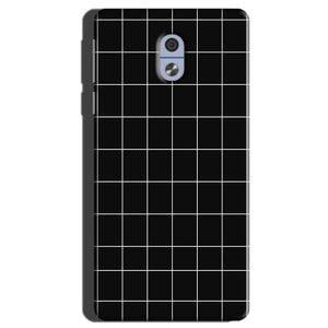 Nokia 3 Mobile Covers Cases Black with White Checks - Lowest Price - Paybydaddy.com