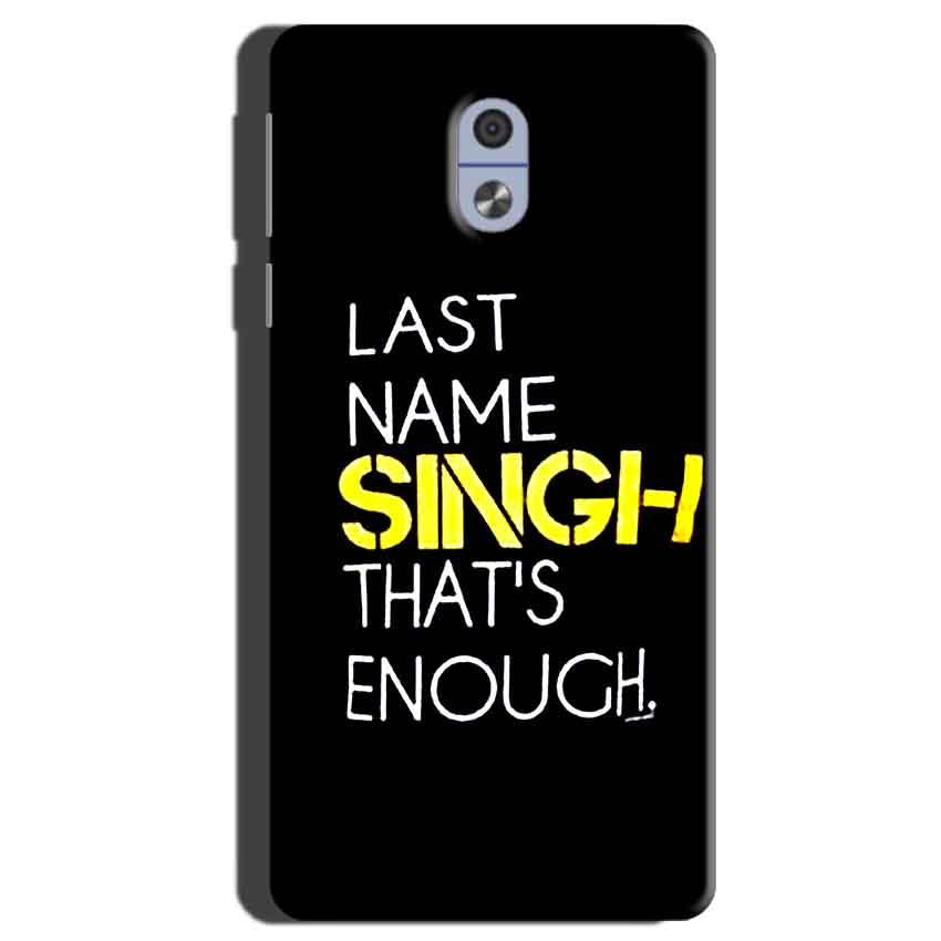 Nokia 3 Mobile Covers Cases Last Name Singh- Lowest Price - Paybydaddy.com