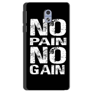 Nokia 3 Mobile Covers Cases No Pain No Gain Black And White - Lowest Price - Paybydaddy.com