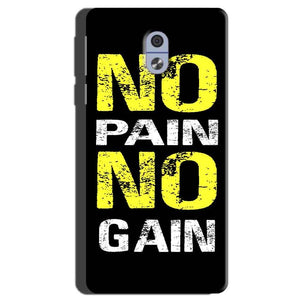 Nokia 3 Mobile Covers Cases No Pain No Gain Yellow Black - Lowest Price - Paybydaddy.com